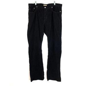 John Varvatos Boot Cut Corduroy Pants Black